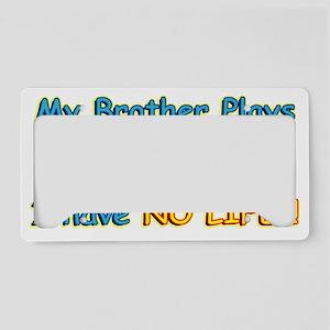 My-Brother-Baseball3-20-12 License Plate Holder
