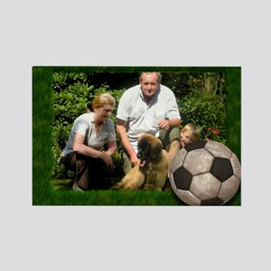 Your photo in a Soccer Frame Rectangle Magnet