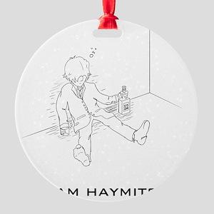 Hunger Games Team Haymitch Dark Round Ornament