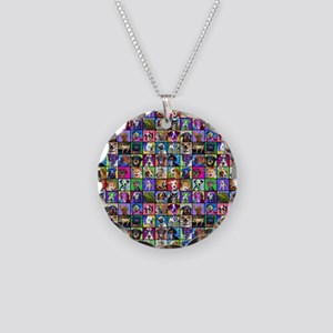 wall Necklace Circle Charm