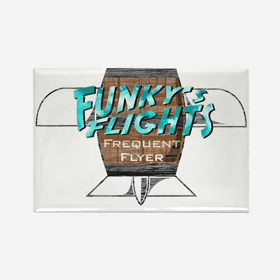 Funkys Flights Rectangle Magnet