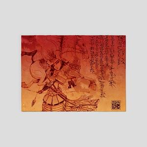 samurai chic king duvet 5'x7'Area Rug