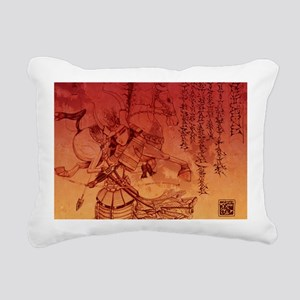 samurai chic king duvet Rectangular Canvas Pillow