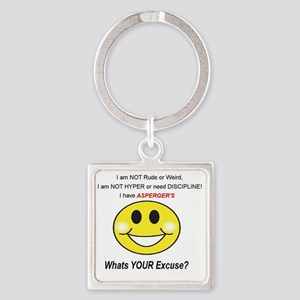 Excuse Square Keychain