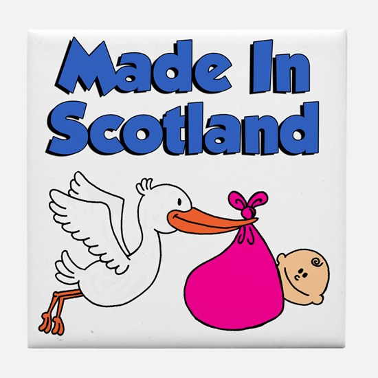 Made In Scotland Girl Tile Coaster