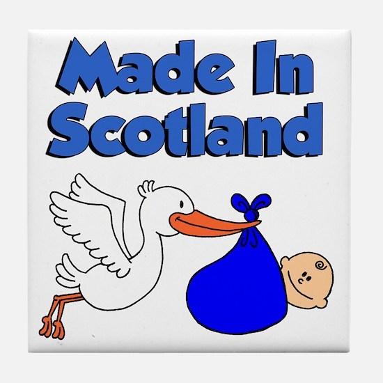 Made In Scotland Boy Tile Coaster
