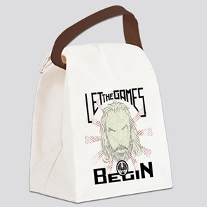 Let the Games Begin dark Canvas Lunch Bag