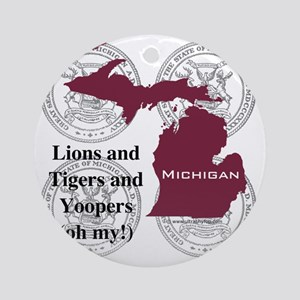 Michigan Round Ornament