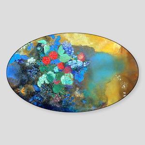 Coin Redon Ophelia Sticker (Oval)
