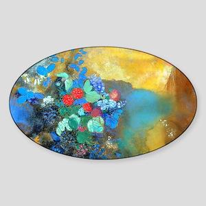 Laptop Redon Ophelia Sticker (Oval)