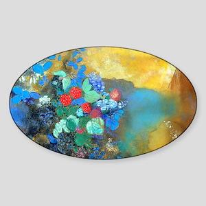 GC Redon Ophelia Sticker (Oval)