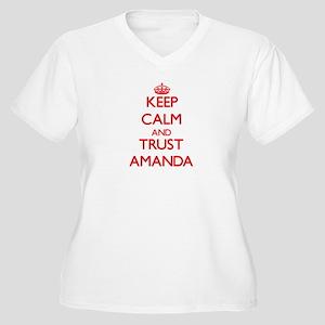 Keep Calm and TRUST Amanda Plus Size T-Shirt