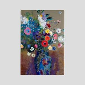 443 Redon Bouquet Rectangle Magnet