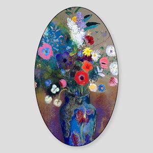 441 Redon Bouquet Sticker (Oval)