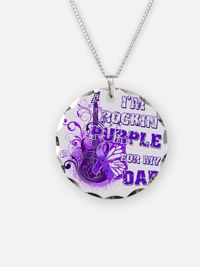 Im Rockin Purple for my Dad Necklace