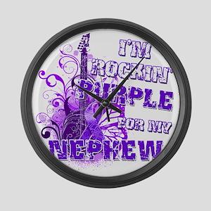 Im Rockin Purple for my Nephew Large Wall Clock