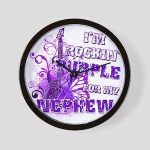 Im Rockin Purple for my Nephew Wall Clock