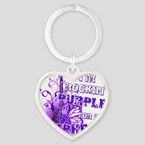 Im Rockin Purple for my Nephew Heart Keychain