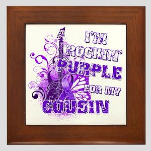 Im Rockin Purple for my Cousin Framed Tile