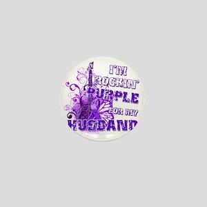 Im Rockin Purple for my Husband Mini Button