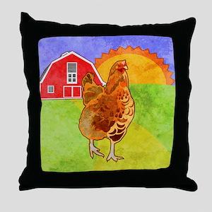 duvetKingRooster Throw Pillow