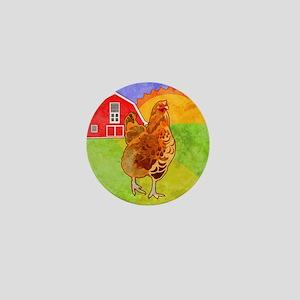 duvetKingRooster Mini Button