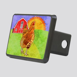 duvetKingRooster Rectangular Hitch Cover