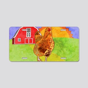 laptopSkinRooster Aluminum License Plate