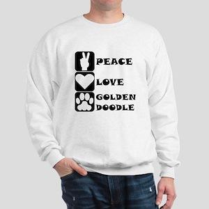 Peace Love Goldendoodle Sweatshirt