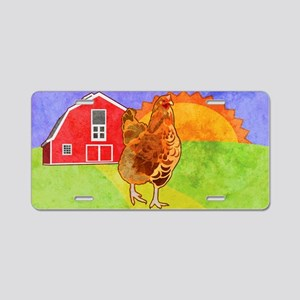 toiletryBagRooster Aluminum License Plate