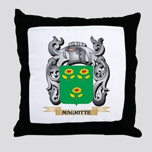 Magritte Coat of Arms - Family Crest Throw Pillow