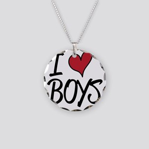 Iheartboys Necklace Circle Charm