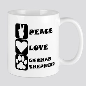 Peace Love German Shepherd Mugs