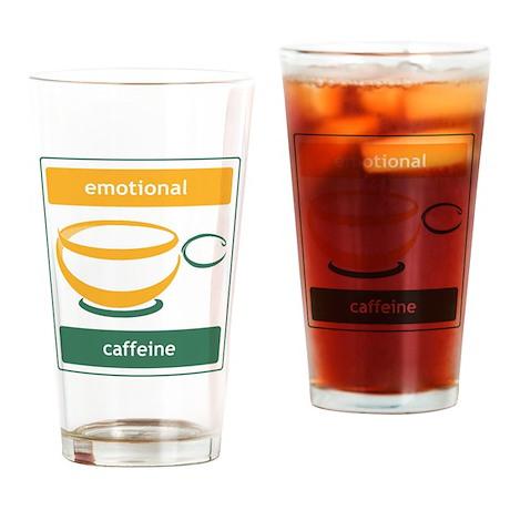 Emotional Caffeine Drinking Glass