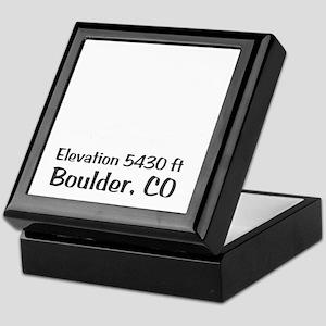 Boulder_High_Town_wht Keepsake Box