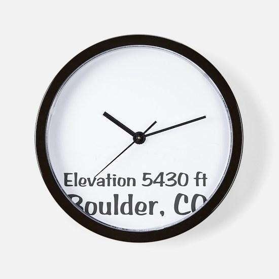 Boulder_High_Town_wht Wall Clock