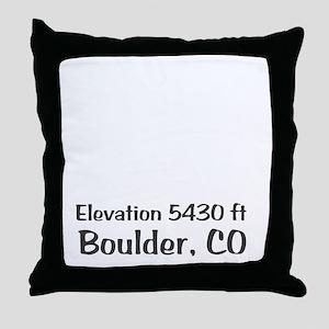 Boulder_High_Town_wht Throw Pillow