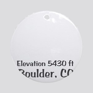 Boulder_High_Town_wht Round Ornament