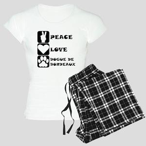 Peace Love Dogue de Bordeaux Pajamas