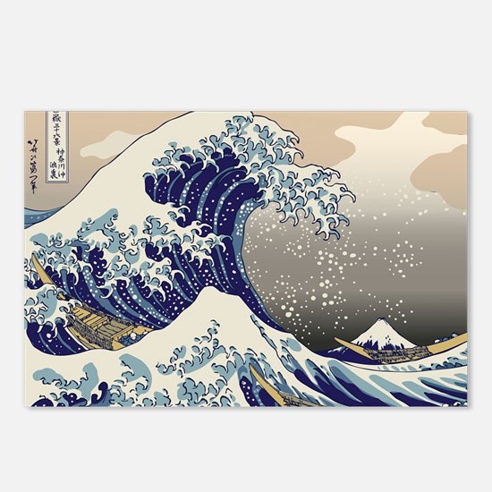 Hokusai_Great_WaveKing1 Postcards (Package of 8)