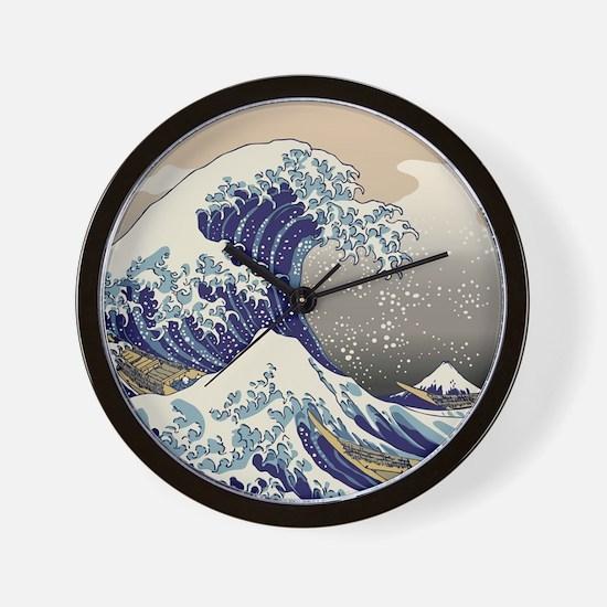 Hokusai_Great_WaveKing1 Wall Clock