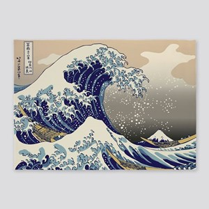 Hokusai_Great_WaveKing1 5'x7'Area Rug