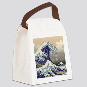 Hokusai_Great_WaveKing1 Canvas Lunch Bag