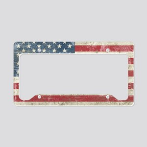vintageAmerica4Pillow License Plate Holder