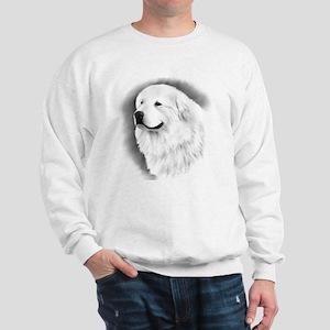 Great Pyrenees Charcoal Portrait Sweatshirt