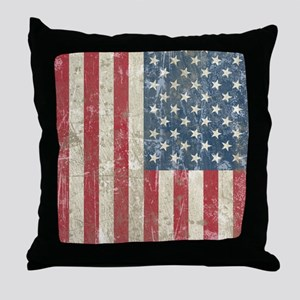 vintageAmerica4Twin Throw Pillow