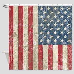 vintageAmerica4Twin Shower Curtain