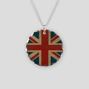 UnionJack9Blanket Necklace Circle Charm