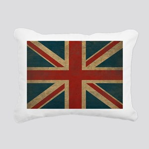 UnionJack9Blanket Rectangular Canvas Pillow