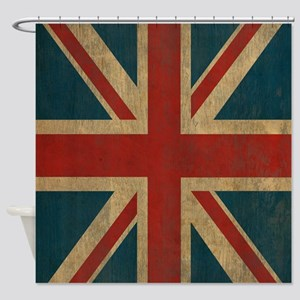 UnionJack9Twin1 Shower Curtain